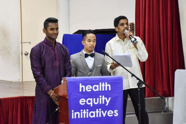 2019_CHW_Training_The 3 Emcees of the Day - Shamir, John and Vihir